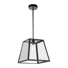 1-Light Mini Pendant with Black Finish