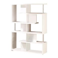 Coaster Modern White Finish Bookcase
