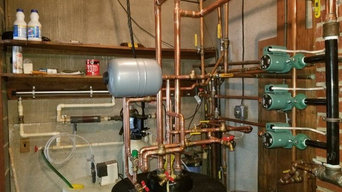 Oil to propane boiler conversion and water tank installation