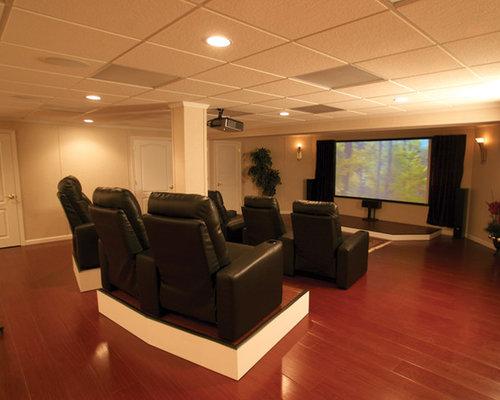 Small basement job with home theater for Woods basement systems reviews