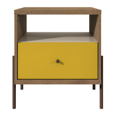 Manhattan Comfort Joy Nightstand In Yellow Color 350483