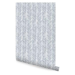 Chevron Wood Herringbone Wallpaper Peel And Stick Farmhouse Wallpaper By Simple Shapes