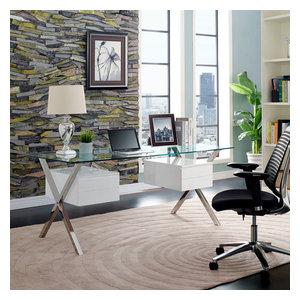Abeyance Office Desk, White