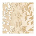Textured Leaf Damask Wallpaper, Beige and Metallic Gold, 1 Bolt
