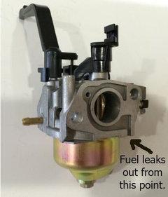 Lawn Mower carburetor/gas leak problem