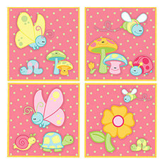 April Showers, Flower and Bugs, Peel & Stick Wall Stickers