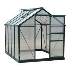 Outsunny 6x8x7 Polycarbonate Portable Walk-In Garden Greenhouse