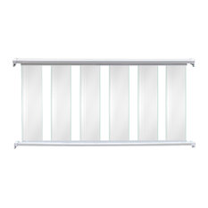 "Contractor Handrail Glass Deck Railing Kit, 8'x36"", White"