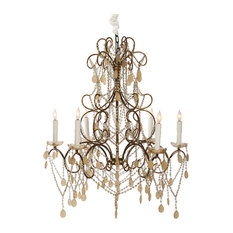French style chandeliers houzz carew court french style ornate beaded 6 light swag chandelier chandeliers audiocablefo