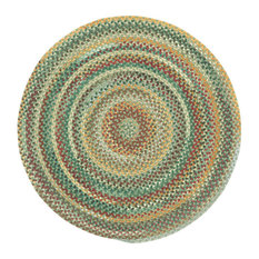 """Capel Rugs - Sherwood Forest Braided Seat Cover, 1'3"""" - Area Rugs"""