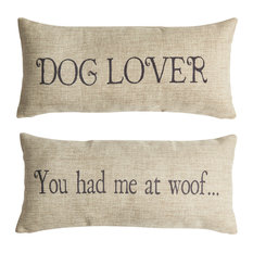 Dog Lover Pet Gifts  Double Sided Indoor Outdoor Tan Pillow
