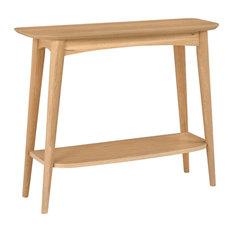 Oslo Oak Console Table With Shelf
