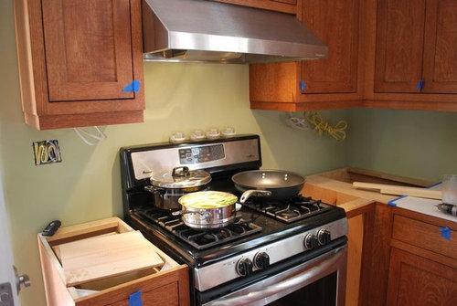 Shaker Quartersawn Oak 1908 Foursquare Kitchen Remodel