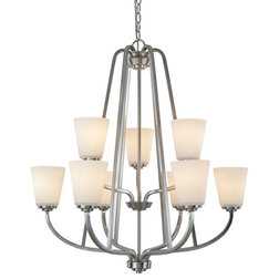 Inspirational Transitional Chandeliers by ARTCRAFT Lighting View Hudson Light Brushed Nickel Chandelier