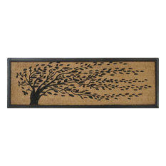 A1 Home Collections LLC   Falling Leaves Rubber And Coir Double Doormat    Doormats