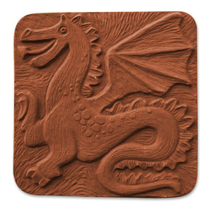 "Dragon oriental stepping stone mold  11/"" x 1/"" thick"