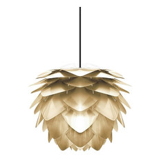 Silvia Hardwired Pendant, Black/Brushed Brass