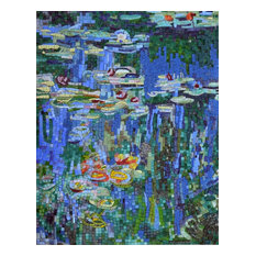 "Mosaic Wall Art, Waterlilies, 24""x31"""