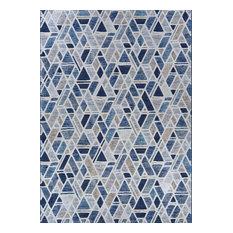 Couristan Easton Rectangle 5'3  x7'6   Graffiti Blue Area Rug