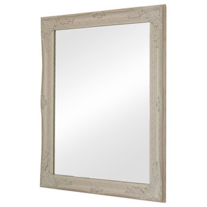 Large Ornate White Wall Mirror 63cm x 82cm