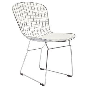 Outstanding Baxton Studio Boujan Plastic Modern Dining Chairs White Creativecarmelina Interior Chair Design Creativecarmelinacom
