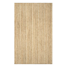 nuLOOM Hand Woven Jute and Sisal Rigo Area Rug, Natural, 9'x12'