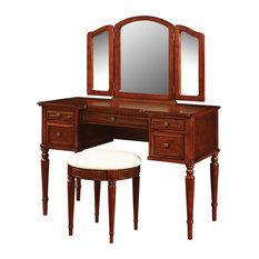 Powell Home Fashions 429-290 Brandon Two Piece Wood Framed Vanity Set