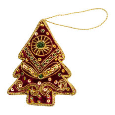 - Indian hand-embroidered Christmas ornaments - Christmas Decorations