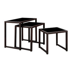 Furniture Of America Lodge Aluminum Patio Nesting Table In Espresso