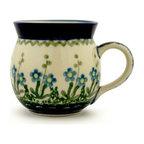 Polish Pottery 8 oz. Stoneware Bubble Mug Hand-Decorated Design
