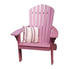 Poly Fanback Adirondack Chair, Cherrywood