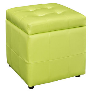 Strange Hawthorne Collections Square Faux Leather Storage Ottoman Ncnpc Chair Design For Home Ncnpcorg
