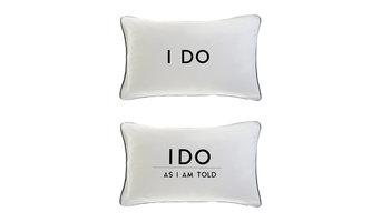 I Do and I Do as I Am Told Pillowcases, 2-Piece Set