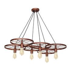 Min Pendant 6-Light, Copper, Loft Design