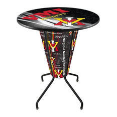 Lighted Virginia Military Institute Pub Table by Holland Bar Stool Company