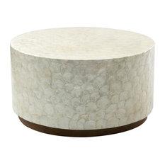 Milton Wood and Capiz Coffee Table, Round