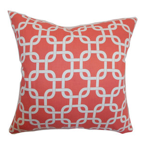 The Pillow Collection Maliah Geometric Bedding Sham Blue Red Standard//20 x 26