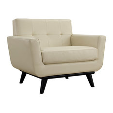 Modway - Modway Engage Bonded Leather Armchair EEI-1336-BEI - Armchairs and Accent Chairs