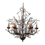 Grand Charlotte Splendid Antique Bronze 6-L Crystal Chandelier BC-206