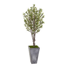 6 ft. Olive Artificial Tree in Green