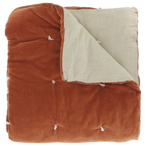 Wave Velvet Throw, Orange