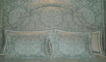 Custom headboard and bedding