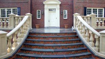 Brookline, MA - Front Steps, Walls, Bluestone Terrace, Rear Patio & Driveway