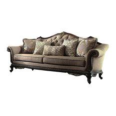 Homelegancela Inc Homelegance Bonaventure Park Sofa In Brown Chenille Sofas