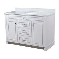 "Abigail Bathroom Vanity Set, French Gray, Single Sink, 48"""