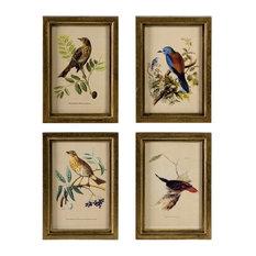 Agatha 4-Piece Wooden Bird Plaque Set