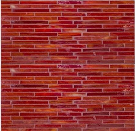 Crimson Glass Mosaic - Tile