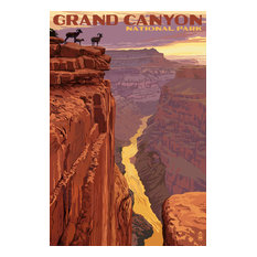 """Grand Canyon National Park, Bighorn Sheep on Point"" Print, 16""x24"""