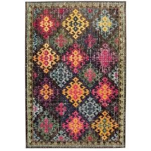 Colores Modern Rectangular Funky Rug, Dark Multi Colour, 160x230 cm