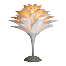 Pure White Lotus Flower Shade Table Lamp
